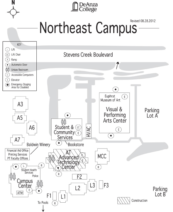 Northeast Campus map