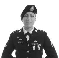 De Anza student in military uniform