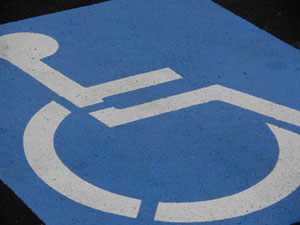 Universal disability permit sign