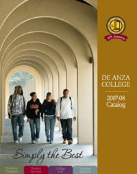 Cover of the De Anza College 2007-08 Catalog