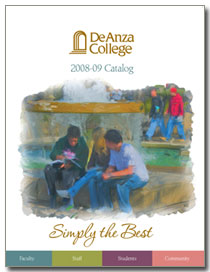 Cover of the De Anza College 2008-09 Catalog