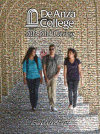 Cover of the De Anza College 2013-2014 Catalog