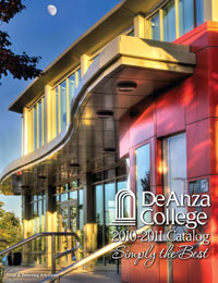 Cover of the De Anza College 2010-2011 Catalog