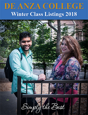 Winter 2018 schedule - male and female students on campus