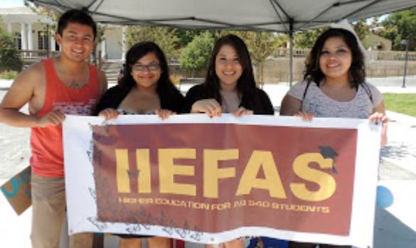 Students with HEFAS Banner