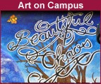 Mural detail - Beautiful Chaos by art students (2008)